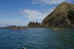 Sea kayaking around the point